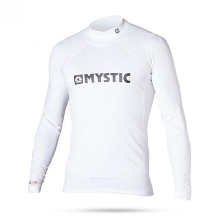 Mystic otroška majica Lycra Star Rashvest L/S Junior 100, bela, S