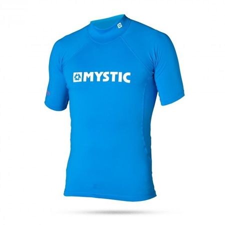 Mystic otroška majica s kratkimi rokavi Lycra Star Rashvest S/S Junior 400, modra, S