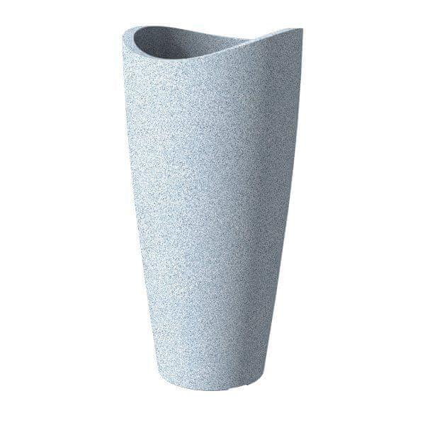 Scheurich Venkovní obal 254 plastový, 30cm, Wave Globe Weiss Granit