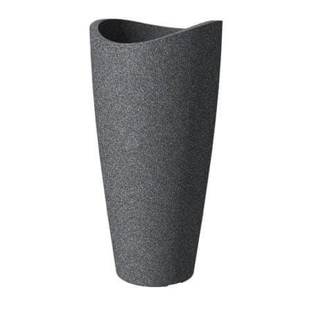 scheurich venkovn obal 254 plastov 30cm wave globe schwarz granit mall cz. Black Bedroom Furniture Sets. Home Design Ideas