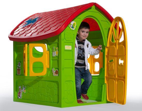 Dohany Dětský zahradní domek 5075 zeleno-červený