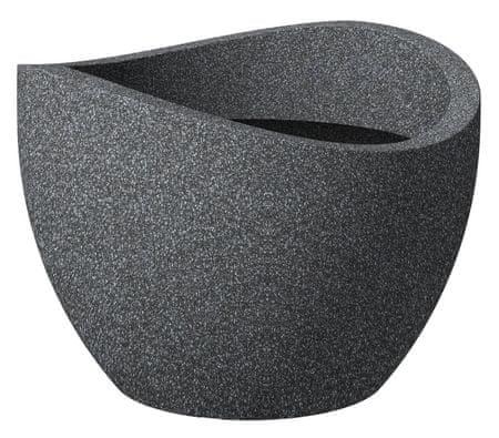 Scheurich cvetlični lonec 250, 50 cm Globe črn