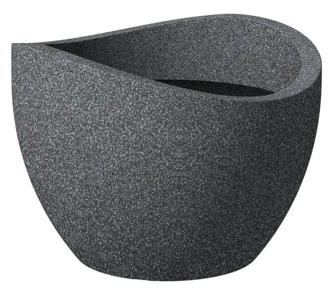 Scheurich Venkovní obal 250 plast, 50cm, Globe Schwarz
