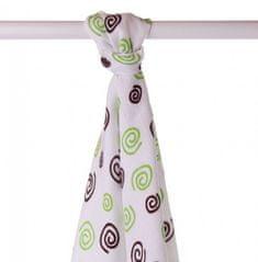XKKO Ręcznik bambusowy 90x100 cm, Lime Spiral