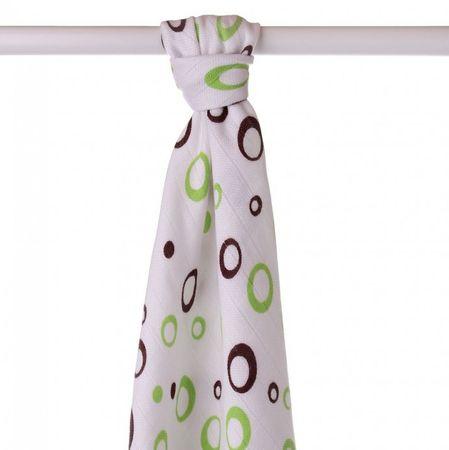 XKKO Bambusová osuška 90x100 cm, Lime Bubbles