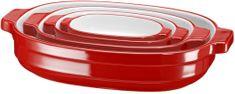 KitchenAid keramični pekač, 4-delni, rdeč