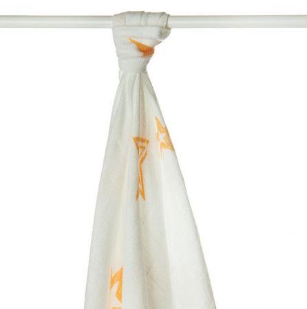 XKKO Bambusová osuška 90x100 cm, Orange Stars