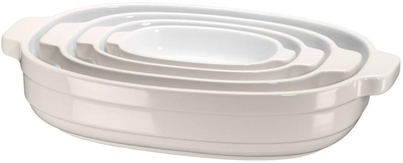 KitchenAid Pekáč keramický - set 4ks, mandlová