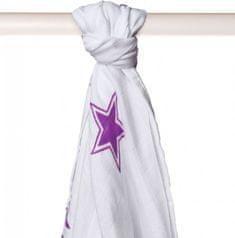 XKKO Ręcznik bambusowy 90x100 cm, Lilac Stars