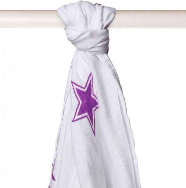 Kikko Bambusová osuška 90x100 cm, Lilac Stars