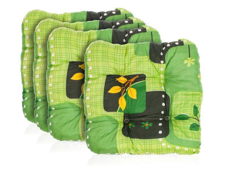 Happy Green Sada zahradních podsedáků 4KS, zelená
