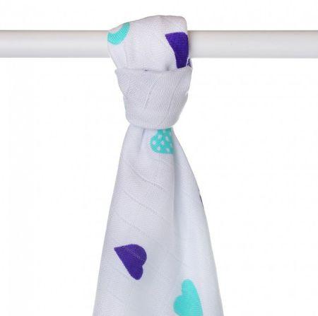 XKKO Ręcznik bambusowy 90x100 cm, Blue Hearts