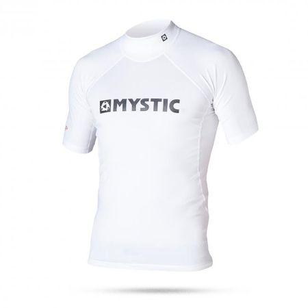 Mystic otroška majica s kratkimi rokavi Lycra Star Rashvest S/S Junior 100, bela, XS