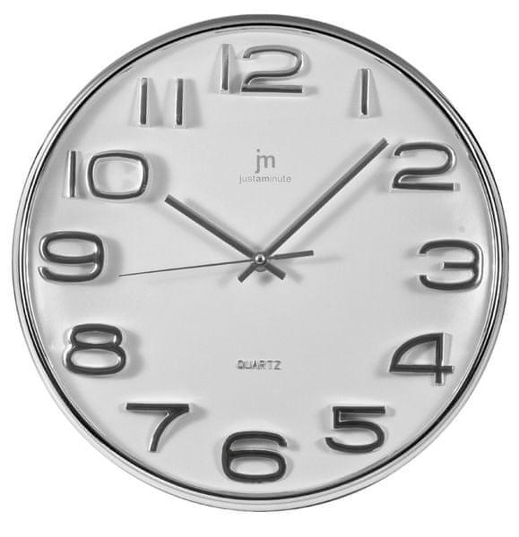 Lowell Designové nástěnné hodiny 00810 bílá
