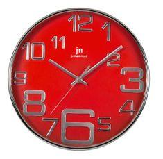 Lowell Designowy zegar ścienny 00820R czerwony