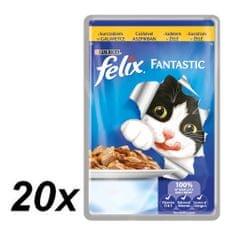 Felix saszetki dla kota Fantastic - kurczak w galaretce, 20 x 100g