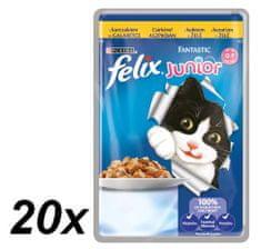 Felix Fantastic Junior - kapsička s kuraťom v želé 20 x 100g