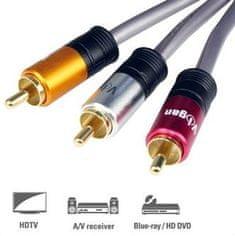 Vigan 3x cinch AV kabel, M/M