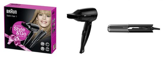 Braun Combo Satin Hair To Go Žehlička ST 100 + vysoušeč HD 130