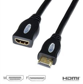 Vigan HDMI High Speed kabel, M/F, 1 m