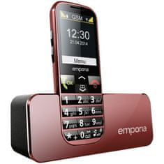 Emporia telefon komórkowy ECO C160, czerwony