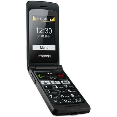 Emporia telefon komórkowy FLIP basic, czarny