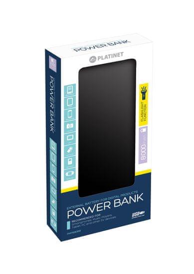 Omega Powerbank 8000 mAh Black - zánovné