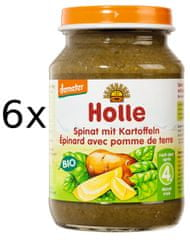Holle Bio Špenát s bramborem - 6x190g