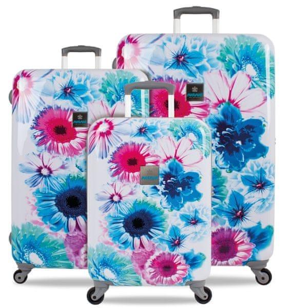 SuitSuit Cestovní kufry sada TR-1216/3 - Bright Botanica