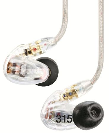 Shure słuchawki SE315, przeźroczysty