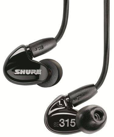 Shure słuchawki SE315, czarny
