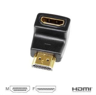 Vigan Redukce HDMI A - HDMI A 90°, M/F