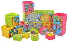 Teddies BABY Kostky + jiné tvary plast v krabici