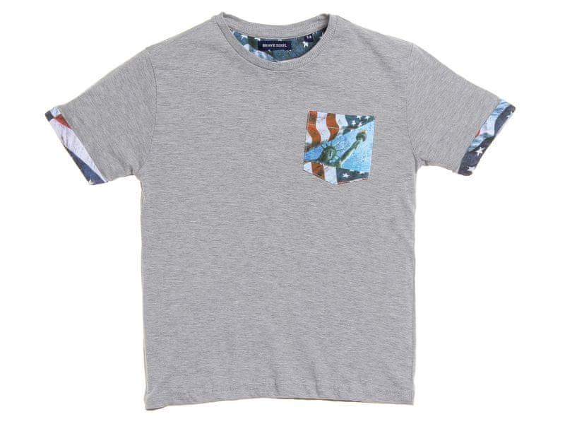 Brave Soul chlapecké tričko Federal 140 šedá