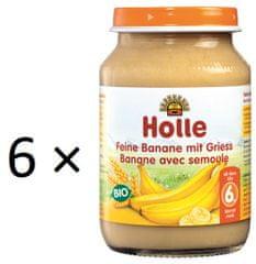 Holle Bio Jemné banány s krupicou - 6 x 190g