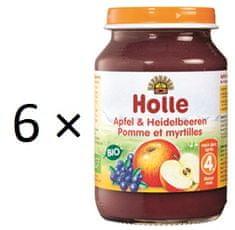 Holle Bio Jablko a čučoriedka - 6 x 190g