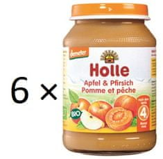 Holle Bio Broskyňa a jablko - 6 x 190g