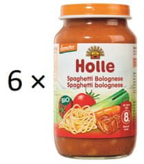 Holle Bio Bolonské špagety - 6 x 220g