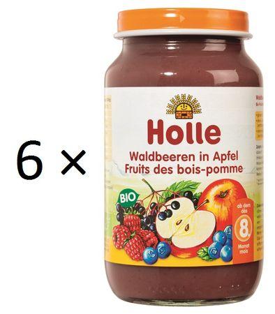 Holle Bio Lesní plody v jablku - 6 x 220g
