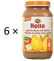 Holle Bio Jablko, hruška s kdoulí - 6 x 220g