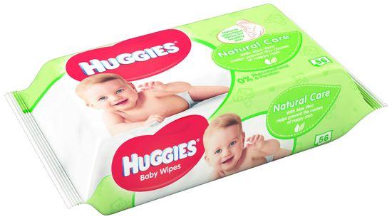 Huggies Vlhčené Ubrousky Natural Care 10 x 56 ks