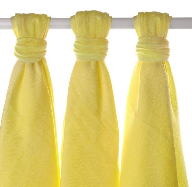 Kikko Bambusové pleny 70x70cm - 3ks - Žluté