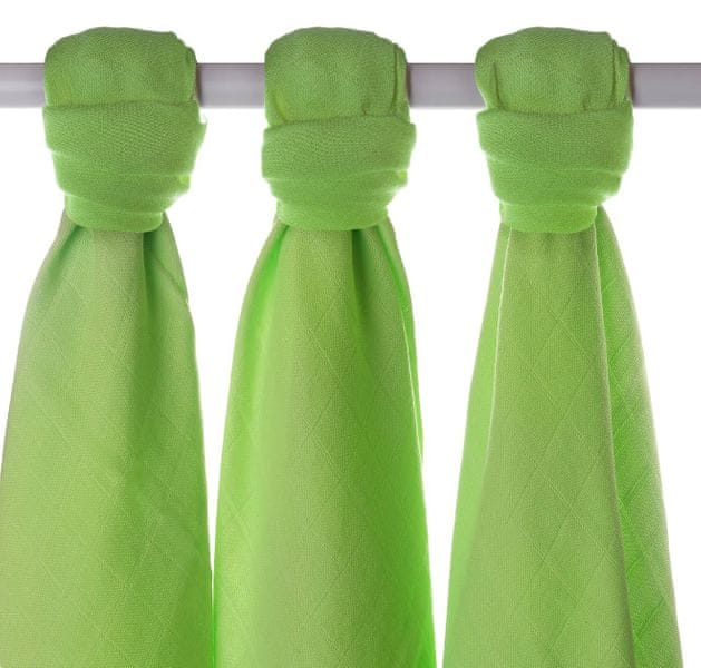 Kikko Bambusové pleny 70x70cm - 3ks - Zelené