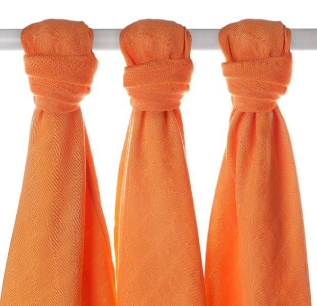 Kikko Bambusové pleny 70x70cm - 3ks - Oranžové