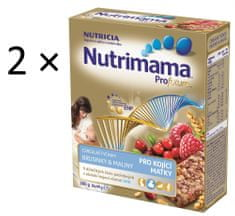 Nutrilon Nutrimama Cereálne tyčinky brusnica/maliny 2 × 200 g