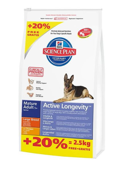 Hill's Canine Mature Adult Large Breed Chicken 12+2,5kg Zdarma