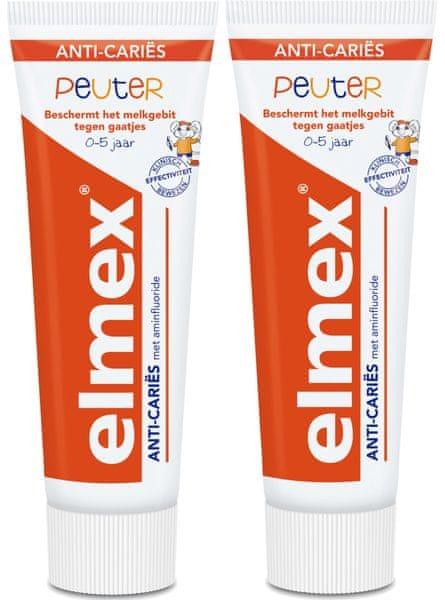 Elmex Zubní pasta Junior 0-5 let 2ks