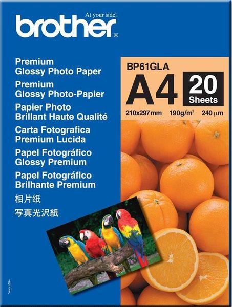 Brother fotopapíry premium BP61GLA A4 20 ks