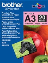 Brother fotopapír premium Glossy BP71GA3 A3 20ks