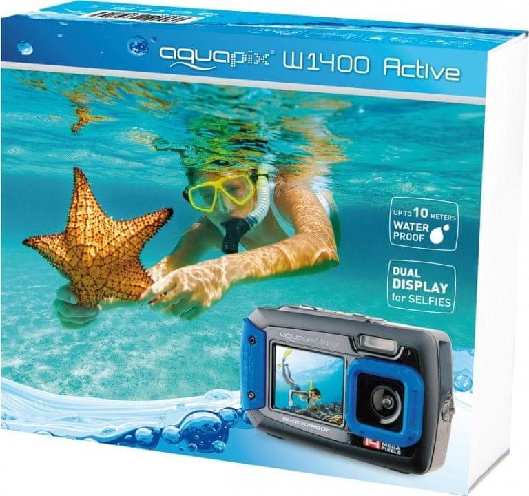 Podvodní fotoaparát s kamerou EasyPix W1400 Active Blue